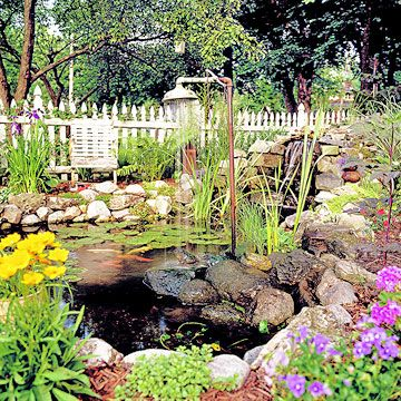 Garden Pond - Water Landscaping - Massachusetts