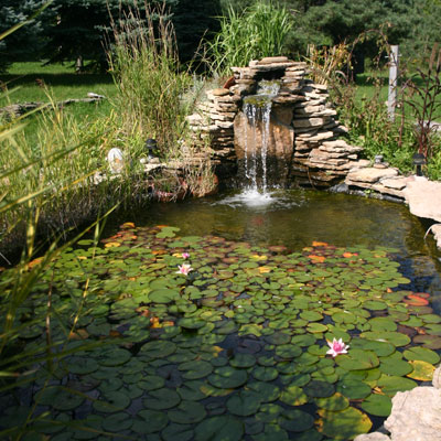 Garden Waterfall - Water Landscaping - Indiana